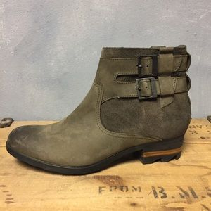 Sorel Leather Ankle Boots 9.5 Lolla Waterproof